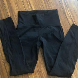 Lululemon black leggings with mesh